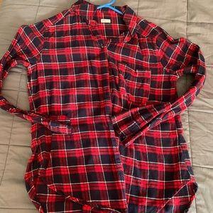 Hollister Tops - Flannel bundle red Hollister blue Aeropostale